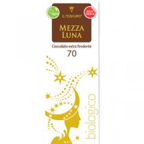 Mezza Luna ekstra tumma suklaa 60g. Kaakaopitoisuus 70% min
